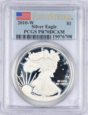 2010-W $1 SILVER AMERICAN EAGLE ✪ ANACS PR-70 ✪ PROOF DCAM 1ST STRIKE ◢TRUSTED◣