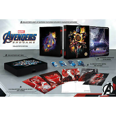 The Avengers: Endgame 3D and 2D Blu-ray Zavvi  Collector's Edition Steelbook