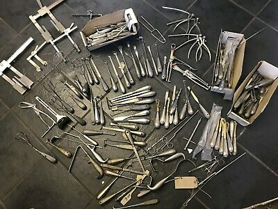 job lot medical iems rib,finger, retractor, spoon,chisel,gu,mueller
