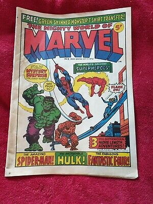 The Mighty World of Marvel Issue No.1 1972 Week Ending Oct 7