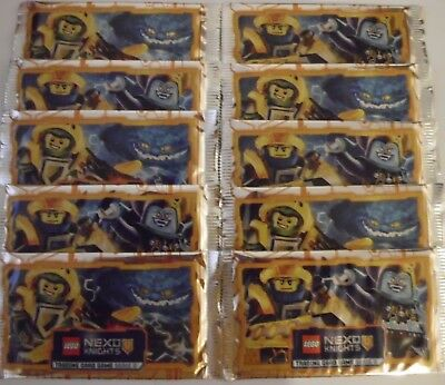 LEGO NEXO KNIGHTS Serie 2 Trading Card Game 10 BOOSTER =50 Karten