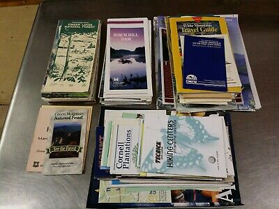 115 pc Trail Hiking Skiing Travel Map Brochure Lot, National Forest State Parks