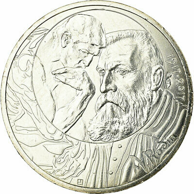 [#730065] France, 10 Euro, Auguste Rodin, 2017, FDC, Argent