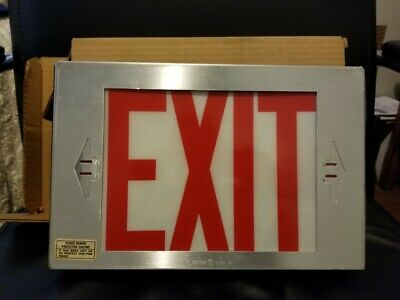 Covill Sterling Lighting One Sided Exit Sign Red Letters 277V Only Single Faced
