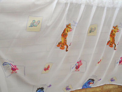 91e087a33bf9 Disney Winnie The Pooh Childrens Kids White Multicoloured Net Curtains  Bedroom