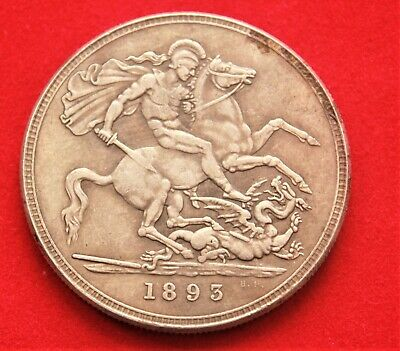 GB 1893 1 Crown Hobo (Imitation) Coin - with a Skull. Fine