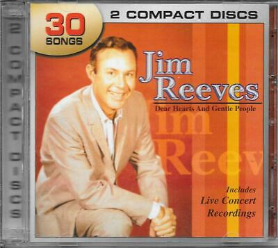 Cd Jim Reeves-Dear Hearts And Gentle People-30 Songs-2 Cds-Free Ship In Canada