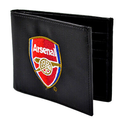 Official Arsenal Football Club Crest Embroidered Leather Wallet Man Purse Gift