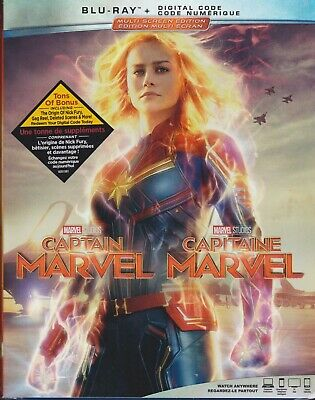 CAPTAIN MARVEL BLURAY & DIGITAL SET with Brie Larson & Jude Law & Samuel Jackson