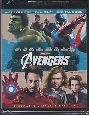 MARVEL'S THE AVENGERS 4K ULTRA HD & BLURAY & DIGITAL SET with Robert Downey Jr.