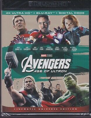 AVENGERS AGE OF ULTRON 4K ULTRA HD & BLURAY & DIGITAL SET with Robert Downey Jr.