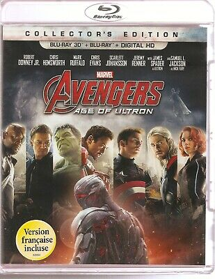 AVENGERS AGE OF ULTRON 3D BLU-RAY & BLURAY & DIGITAL SET with Robert Downey Jr.