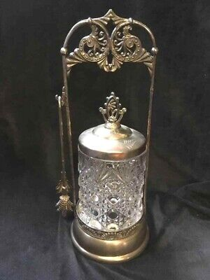 Antique Victorian Van Bergh Silver Plate Pickle Castor Ornate EAPG Rochester NY
