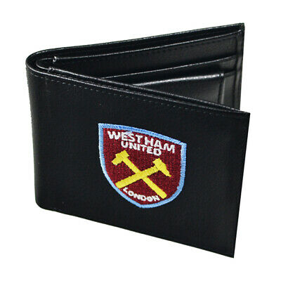 Official West Ham United Football Club Crest Embroidered Leather Wallet Gift