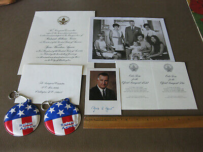 Vintage Nixon Agnew Inaugural Package with Agnew Autographed Photo 1973