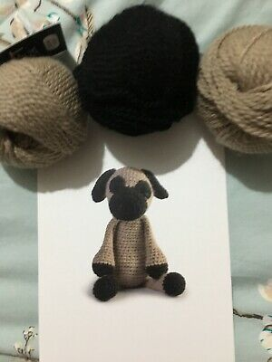TOFT CROCHET PATTERN & Wool - Spencer The - Pug - DK - Standard Size