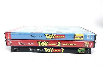 Disney TOY STORY 1 2 3 DVD/Blu-ray Lot Authentic collection Very Good!