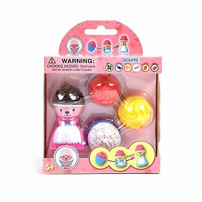 Cupcake Bears Transforming Dolls Mini 4-Pack (Color & Style May Vary)