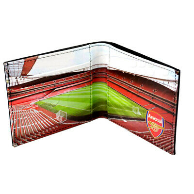 Official Arsenal Football Club Crest Stadium Photo Leather Wallet Man Purse Gift