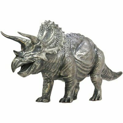 Awesome Triceratops Dinosaurier 8 oz Silber Antik Finish 3D Statue