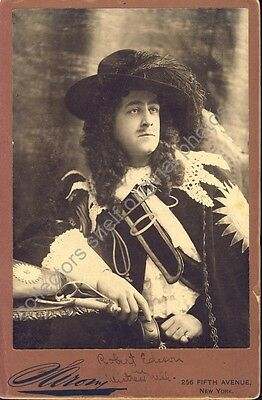 """ROBERT EDESON STAGE ACTOR """"MISTRESS NELL"""" Cabinet Card Photo c1900"""