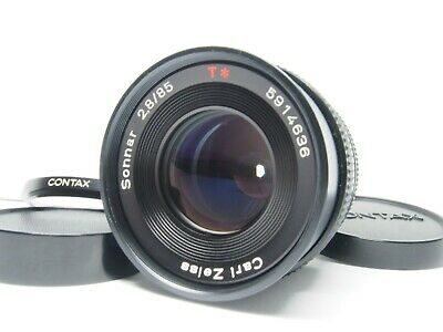 Contax Carl Zeiss Sonnar T* 85mm F/2.8 MMG MF Lens *EXC+++++* From Japan #0138