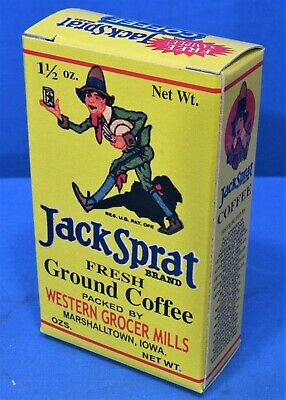 Jack Sprat Coffee Box ~ Free Sample Size & Store Display Sign