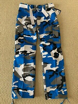 cadf8deee44f2 NWT Men's Regal Wear Blue Gray Camouflage Camo Cargo Pants ALL SIZES/LENGTHS