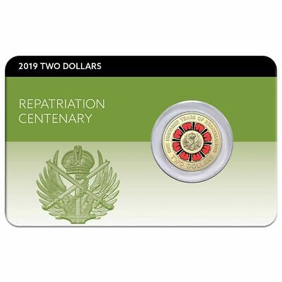 Australia 2019 $2 Centenary of Repatriation Uncirculated CARDED