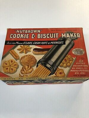 1960's Nutbrown Cookie & Biscuit Maker Antique Vintage Collectable Kitchenalia