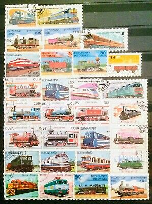 Transport Train Railway History Thematic Topic Stamps Educational 14120619