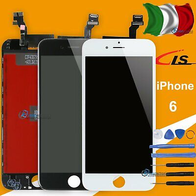 Display Schermo Per Apple Iphone 6  6G Nero Touch Screen Lcd Retina Frame Vetro