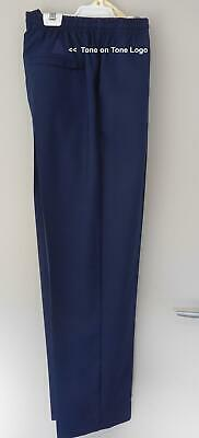 Lawn Bowls Clearance: NEW DOMINO Junior Navy Large Mens Long Pants POST INCLUDED