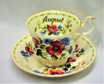 Royal Albert Flower of the Month Poppy Cup and Saucer  England