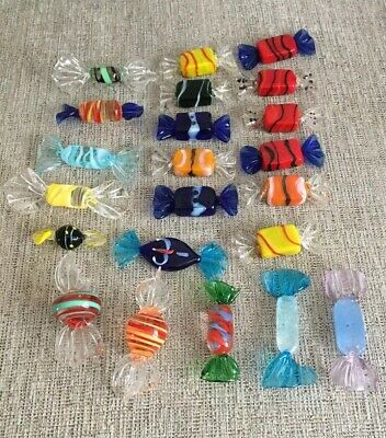 22pcs Vintage Murano Glass Sweets Wedding Party Candy Ornaments Decorations Gift