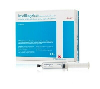Clinimed Instillagel 11ml Box of 10 Sterile Lubricant Anaesthesia Catheter Stoma