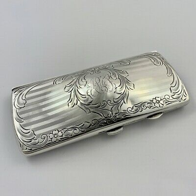 Antique American Sterling Silver Spectacle Case Circa 1910