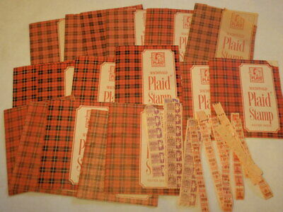 Lot of MacDonald Plaid Stamp Saver Books *As-Is*