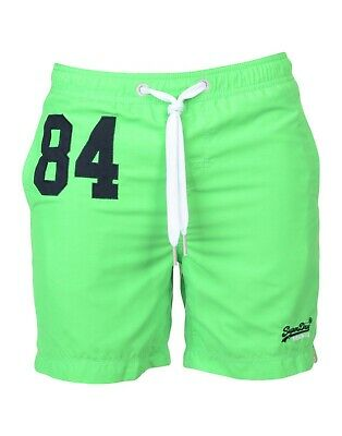 Superdry Mens Water Polo Swim Shorts Bright Green (M)