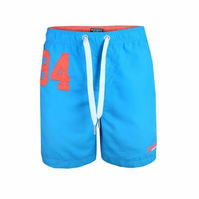 Superdry Mens Water Polo Swim Shorts Blue (M)