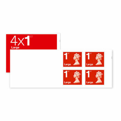 Royal Mail Book of 4 UK 1st Class Large Letter Stamps