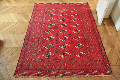 Beautiful OLD Persan Wool Rug Tapis Persan Laine 200X140 cm Carpet