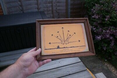 Vintage Copper on Brass Etching Wall Hanging Red Arrows 1000th Display RAF 1977