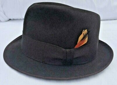 e81f35a2 VTG STETSON THE Sovereign Chocolate Brown Fedora Hat sz 6 7/8 ...
