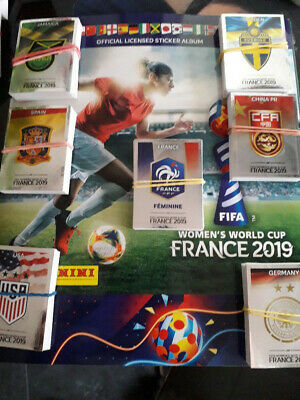 PANINI WOMEN WORLD CUP 2019 : Lot de 100 vignettes(sans doubles)