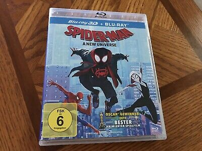 Spider-Man Into the Spider-Verse (Blu-ray 2D/3D) LIKE NEW!