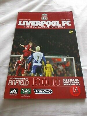 GOOD CONDITION LIVERPOOL v SPURS  PROGRAMME 2009/10  POSTPONED ISSUE