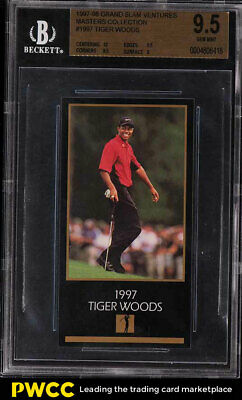 1998 Champions Of Golf Masters Collection Tiger Woods ROOKIE RC BGS 9.5 (PWCC)