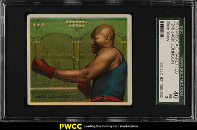 1910 T218 Champions Prize Fighter Jack Johnson SIDE FACE SGC 3 VG (PWCC)