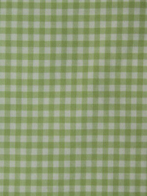 Pottery Barn Kids Green Gingham Check Crib Fitted Sheet Cotton Excellent